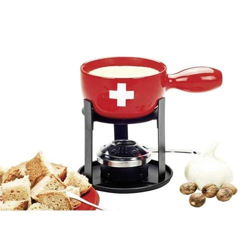 nouvel k sefondue set mini swiss fondue set 6 tlg ch kreuz design ebay. Black Bedroom Furniture Sets. Home Design Ideas