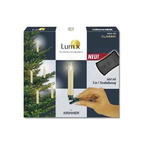 Krinner 10er baumkerzen kabellos elfenbeinfarbig for Lumix baumkerzen
