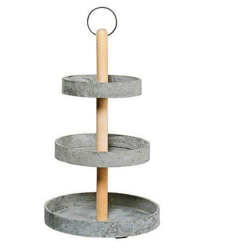 deko etagere holz 3 stufig 29cm h he 50cm 4046943216623. Black Bedroom Furniture Sets. Home Design Ideas